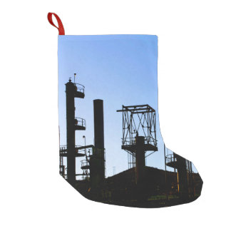 Oil Refinery Small Christmas Stocking
