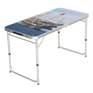 Oil Rig Beer Pong Table