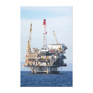 Oil Rig Canvas Print