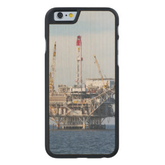 Oil Rig Carved Maple iPhone 6 Case