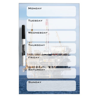 Oil Rig Dry Erase Board