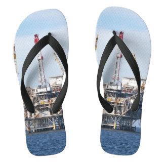 Oil Rig Flip Flops