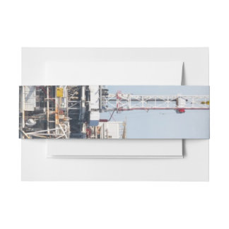 Oil Rig Invitation Belly Band