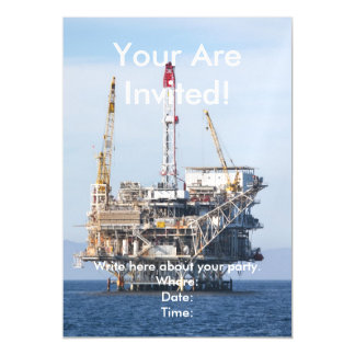 Oil Rig Magnetic Card