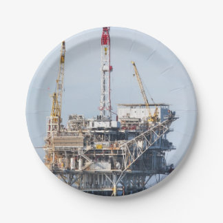 Oil Rig Paper Plate