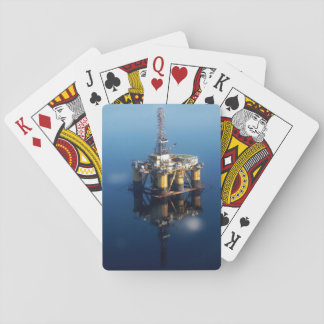Oil Rig Platform Off Scotland Reflection Photo Playing Cards