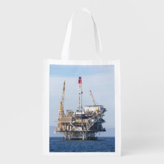 Oil Rig Reusable Grocery Bag