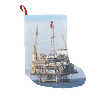 Oil Rig Small Christmas Stocking