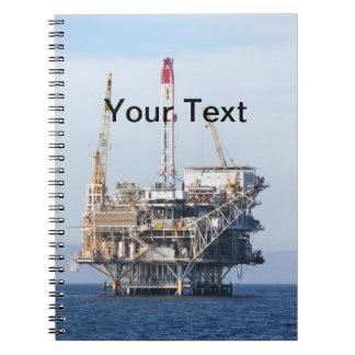 Oil Rig Spiral Notebooks