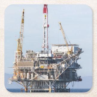 Oil Rig Square Paper Coaster