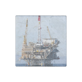 Oil Rig Stone Magnets