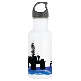 Oil Rigs Water Bottle