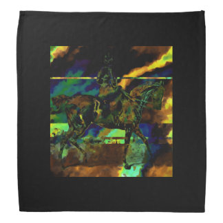 Oil slick sidesaddle bandanna