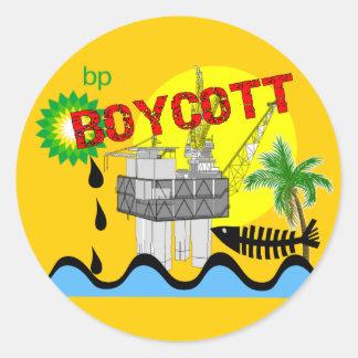Oil Spill T-shirts Round Sticker