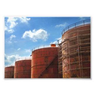 oil tank photo print