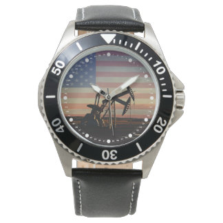 Oil Well and American Flag Watch