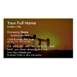 Oil well pump at sunset, Illinois, U.S.A. Business Cards