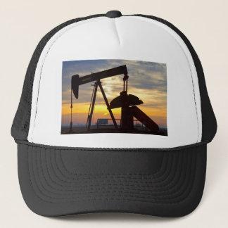 Oil Well Pump Jack Sunrise Trucker Hat