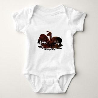 oiled brown pelican baby bodysuit