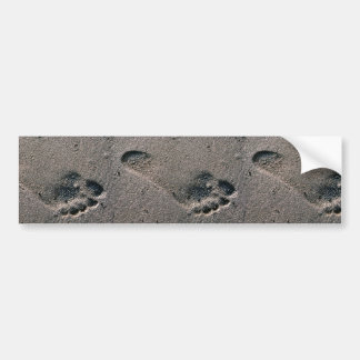 Oiled Foot Print Bumper Sticker