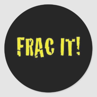 Oilfield FRAC hard hat stickers