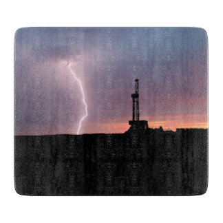 Oilfield Lightning Purple Sunrise Cutting Board
