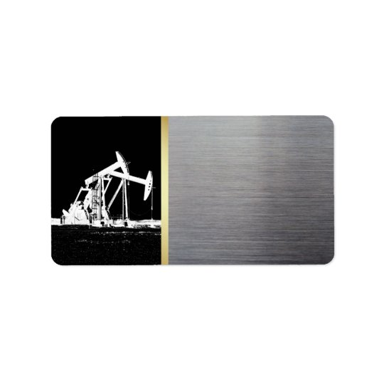 Oilfield Pumping Unit Black, Gold, Silver