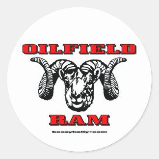 Oilfield Ram, Oil Field Sticker