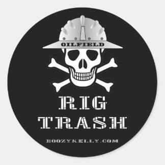Oilfield Rig Trash,Roughneck Sticker,Oil,Gas,Rigs Classic Round Sticker