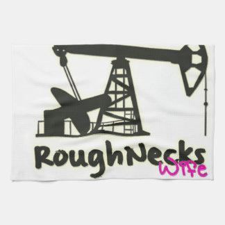 Oilfield Roughnecks Wife Kitchen Towel