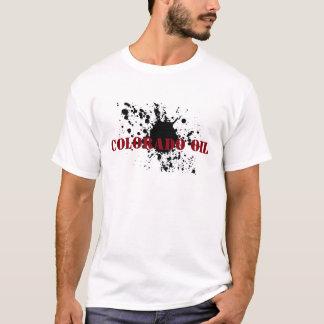 Oilfield T-shirt Colorado Oil Stencil Oil Smudge