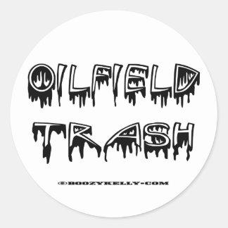 OilField Trash, OilField Sticker, Hard Hat Sticker