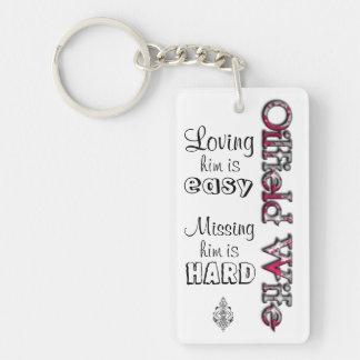 OILFIELD WIFE- Loving is Easy Single-Sided Rectangular Acrylic Keychain