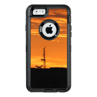 Oilfield Workover Service Rig at Sunset OtterBox Defender iPhone Case