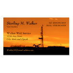 Oilfield Workover Service Rig Silhouette Business Card