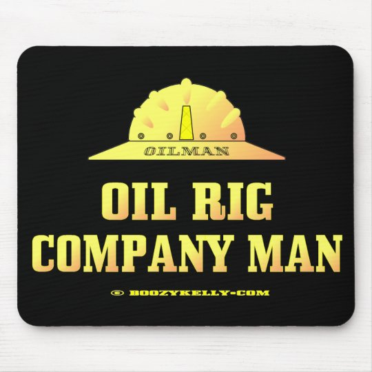 Oilman,Oil Rig Company Man,Drilling,Gas,Gold Mouse Pad