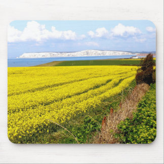 Oilseed rape field in the Isle of Wight Mouse Pad