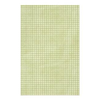Oilve Green Grid Paper