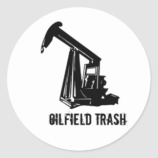 OILWELL5, Oilfield Trash Classic Round Sticker