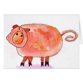 Oink! • Max Kaderabek, Age 8 Card