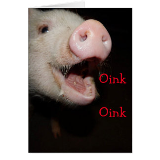 Oink means I love you , Pig Mother's Day Card