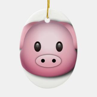 Oink Oink Cute Pig Ceramic Ornament
