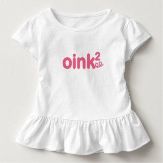 Oink Oink Piggy Text Toddler T-shirt