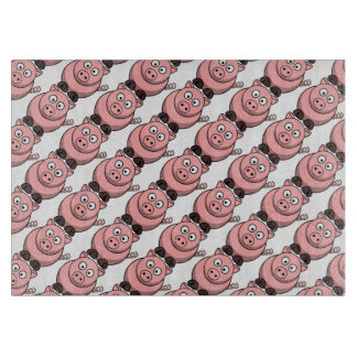 Oink Pink Piggy Face Pattern for Bacon Lovers Cutting Boards