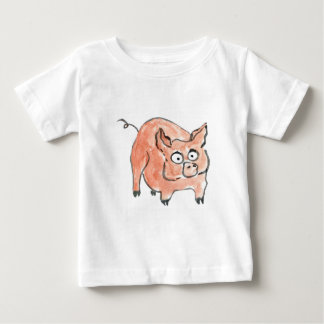Oink says Little Piggy Baby T-Shirt