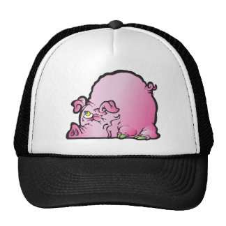Oinky the pig trucker hat