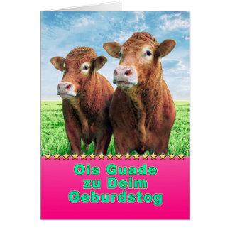 Ois Guade to Deim Geburdstog Card