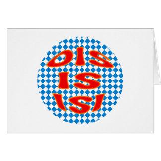 Ois Is Isi Bavarian Bavarian bavarian Bavaria Card