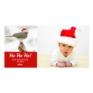 Oiseau avec le carte photo rouge de casquette de photocarte customisée