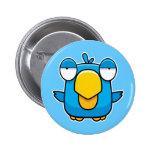 Oiseau de bleu de bande dessinée badges